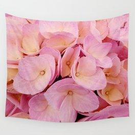 Hydrangea Macro Peach Pink Wall Tapestry