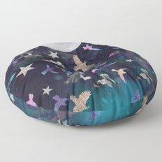 Midnight Birds Floor Pillow