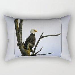 eagle striking a pose (square) Rectangular Pillow