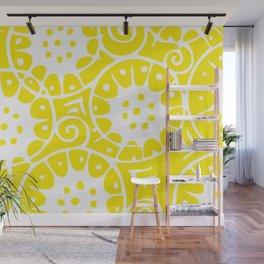 Lemon Swirl Pattern Wall Mural