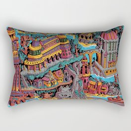 Mumbo Jumbo City (Color) Rectangular Pillow