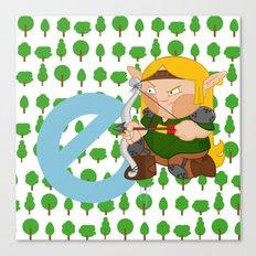 E for elf Canvas Print