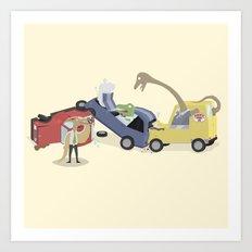 BandNames : Dinosaur Pile-Up Art Print