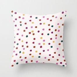Autumn Paint Spots Throw Pillow