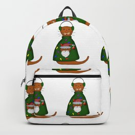 Oliver The Otter In Nana's Ugly Sweater Backpack