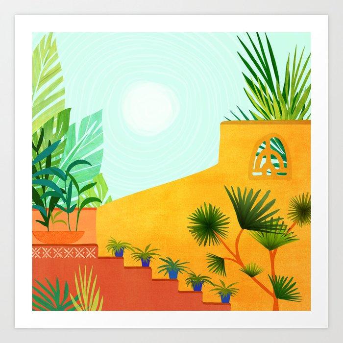 Colorful Garden / Desert Landscape Art Print
