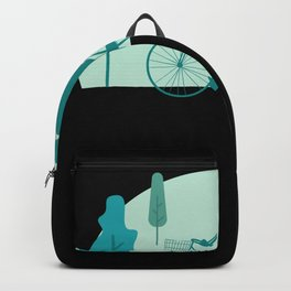 Cute Bicycle Gift I Funny Cycling Trekking Gift design Backpack
