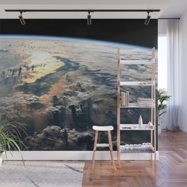 Morning on Planet Earth Satellite Photograph Wall Mural