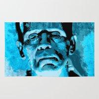 frankenstein Area & Throw Rugs featuring Frankenstein by Pedro Nogueira