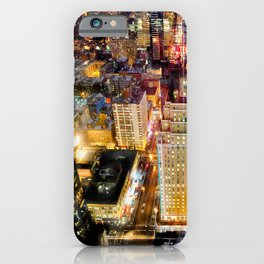 New York City USA megalopolis Evening From above Cities Building Megapolis Houses iPhone Case