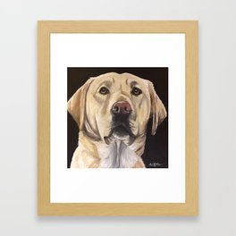 Yellow Lab Art, Cute Dog Painting Framed Art Print