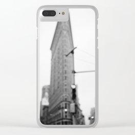 Rainy New York III Clear iPhone Case