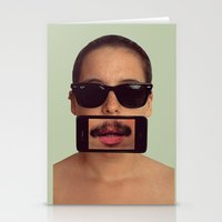 mustache Stationery Cards featuring mustache~ by Michal
