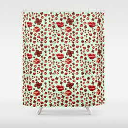 Poppies in the greenery Shower Curtain