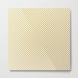 Spicy Mustard Polka Dots Metal Print
