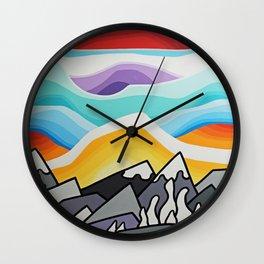 Spring Snowghosts Wall Clock