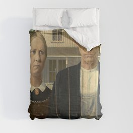 AMERICAN GOTHIC - GRANT WOOD Comforters