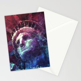 Patriotic Liberty Stationery Cards