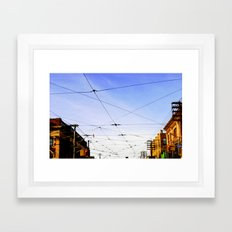 Queen Street Grid Framed Art Print