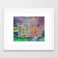 downton abbey Framed Art Prints featuring Downton Abbey by Laura Hol Art