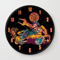 ripley Wall Clocks featuring RIPLEY'S BITCH-BUSTER by BeastWreck