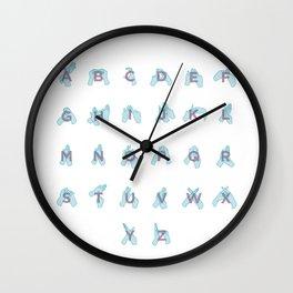 NZ Sign Language Alphabet Wall Clock