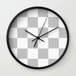 Gray & White Checkerboard Wall Clock