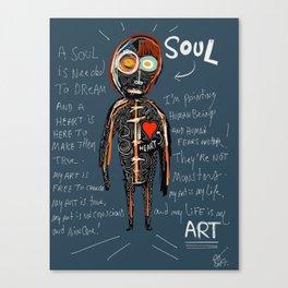 Heart and Soul street art graffiti art brut painting Canvas Print