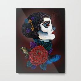 Lucille Tattoo Flash Metal Print