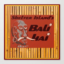 Tiki Art - Bali Hai on Bamboo Canvas Print