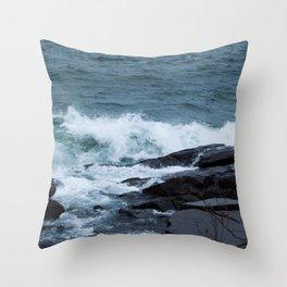 Great Lake Waves Throw Pillow