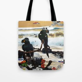 gentlemen parrot Tote Bag