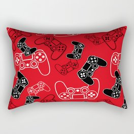 Video Games Red Rectangular Pillow