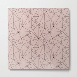 Midcentury Lines Metal Print