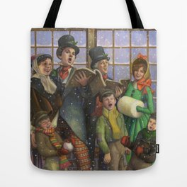 Christmas Carolers Tote Bag