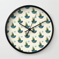earth Wall Clocks featuring Earth by FLATOWL