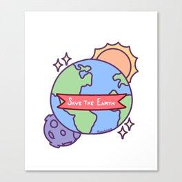 Save The Earth Environmental Protection Sun Moon Gift Canvas Print