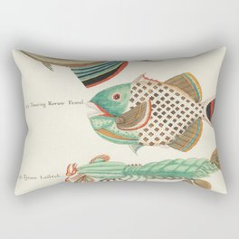 Colourful and surreal s of fishes and lobster found in Moluccas (Indonesia) and the East Indies by L Rectangular Pillow
