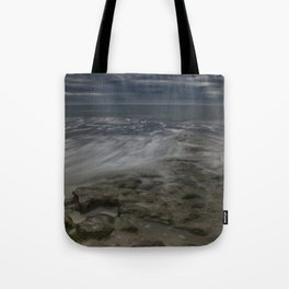 Storm Drama at Swami's Reef. Tote Bag