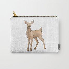 Cute Kawaii Brown Deer Watercolor Print Carry-All Pouch