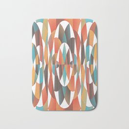 Colorful geometric abstract Bath Mat