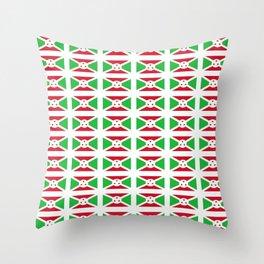 flag of burundi-burundi, burundian,Uburundi, burundais,burundaise,bujumbura. Throw Pillow