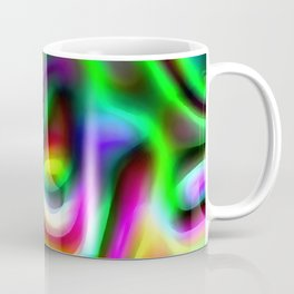 Retro 70's Blurred Psychedelic Abstract Pattern No1 Coffee Mug