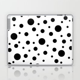 Black on White Polka Dot Pattern Laptop & iPad Skin