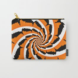 Tiger Stripe Fractal Carry-All Pouch