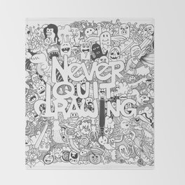 Doddle | Never Quit Drawing Throw Blanket