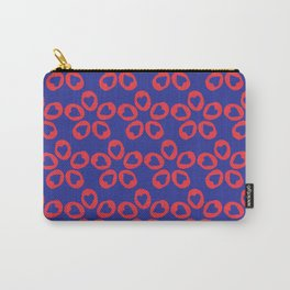 5 of hearts flowers red & blue Carry-All Pouch