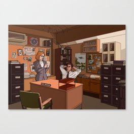 THE FBI'S MOST UNWANTED Canvas Print