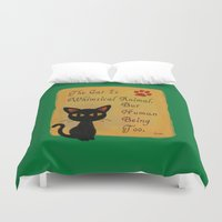 whimsical Duvet Covers featuring Whimsical  by BATKEI