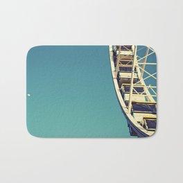 The sky, the moon and the Ferris Wheel Bath Mat